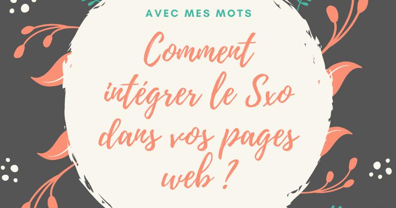Comment intégrer le Sxo dans vos pages web?