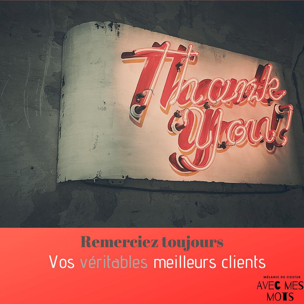remerciez vos meilleurs clients